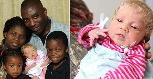 У темнокожей пары родилась блондинка с голубыми глазами. Прошло 10 лет