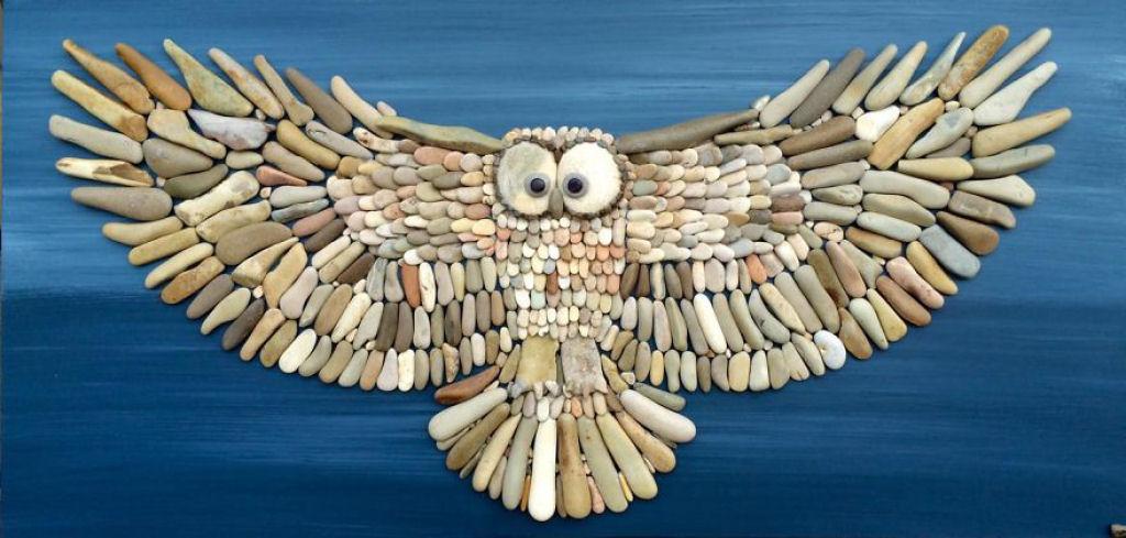Удивительные картинки из пляжных камней итальянца Стефано Фурлани