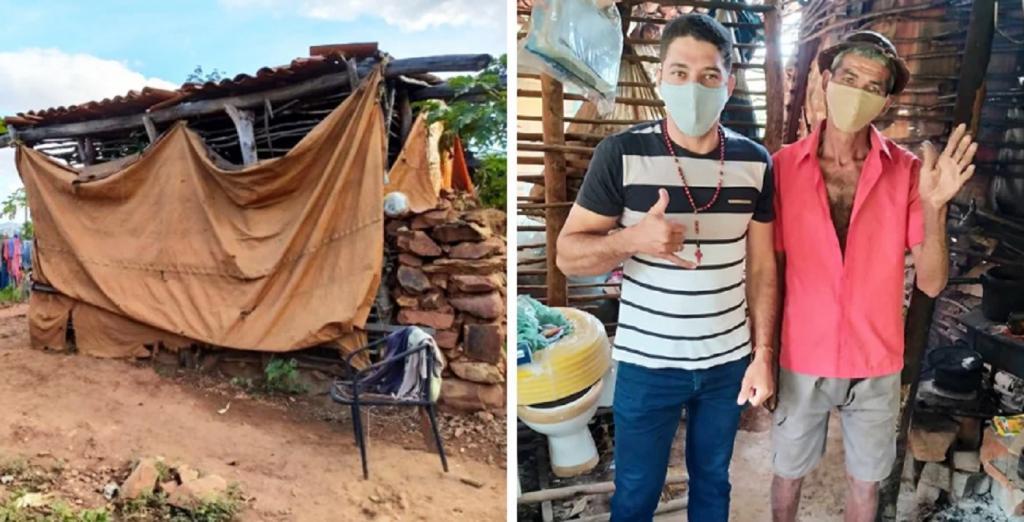 Сосед помог построить дом мужчине, который 18 лет прожил в хижине