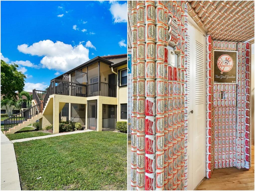 На продажу выставлен недорогой дом, но удивляет не цена, а его интерьер: стены внутри отделаны пивными банками