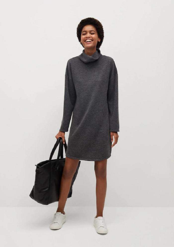 Трикотажное платье: какие модели особенно хороши для осени (фотоподборка)