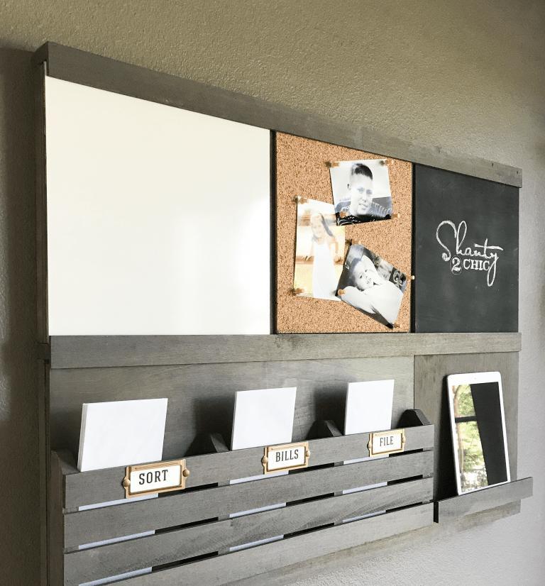 Навесной органайзер с местом для бумаг и заметок: идеальный для работы или учебы