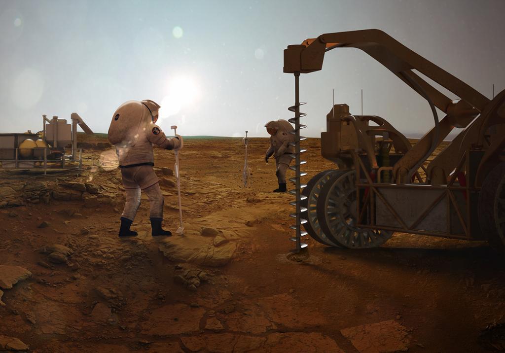 Может ли жизнь существовать глубоко под землей на Марсе, а не в воде: новое исследование