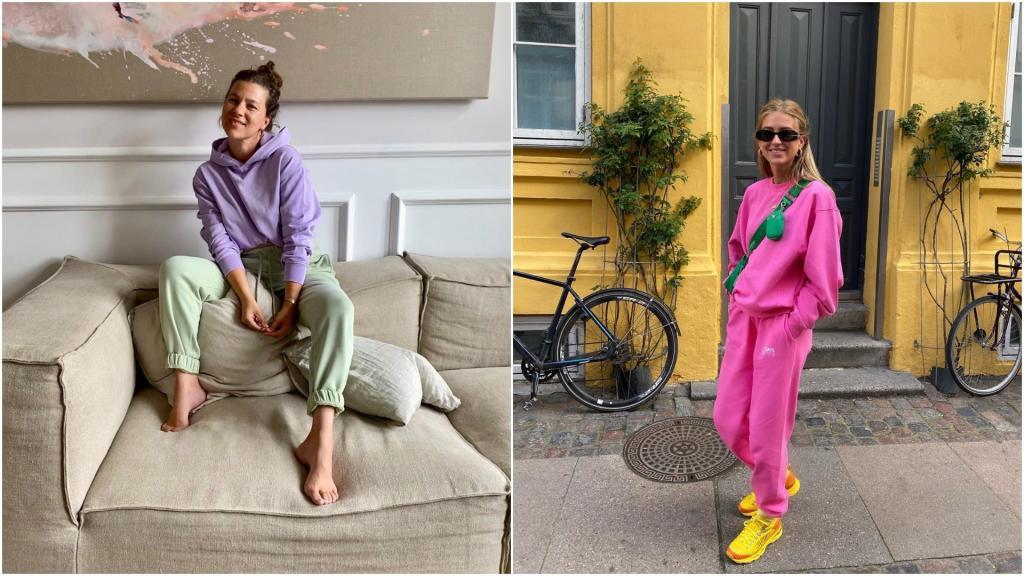 Модные сейчас толстовки с капюшоном носят этой осенью со спортивными штанами и - да! - каблуками