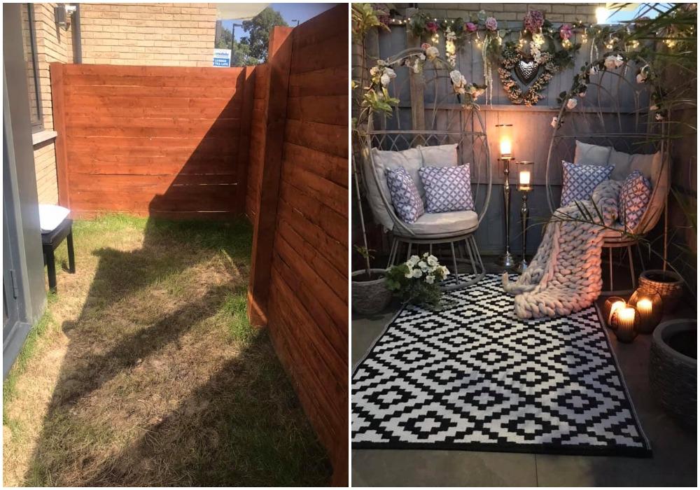 Соседка сделала уютное место для отдыха в своем крохотном дворике. Увидев результат, решила преобразить и свой двор