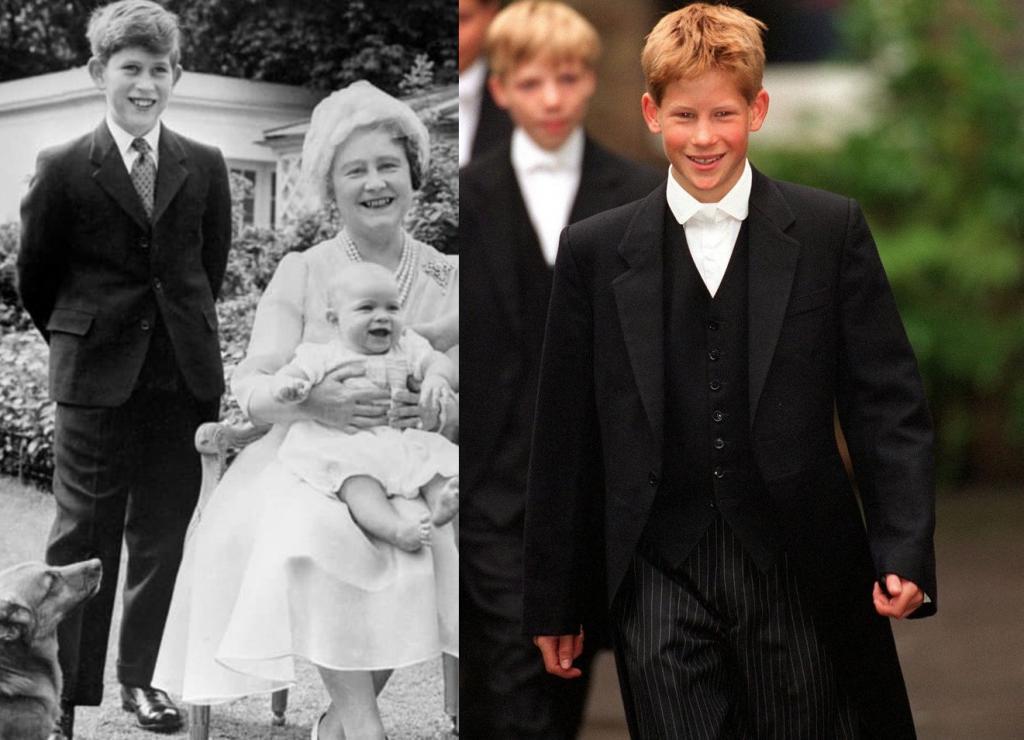 На архивном снимке 1960 года поклонники заметили сходство между юным принцем Чарльзом и принцем Гарри