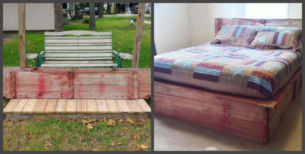 Муж разобрал старую тракторную тележку и сделал из нее кровать