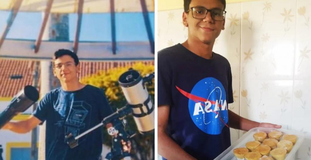 Подросток из Бразилии продает пирожные, чтобы скопить денег на учебу и стать астрономом