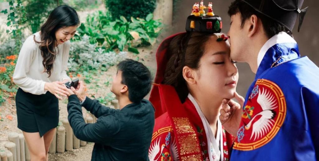 Молодожены фотографируются в свадебных нарядах задолго до торжества: 5 не похожих на русские обычаи корейских свадеб