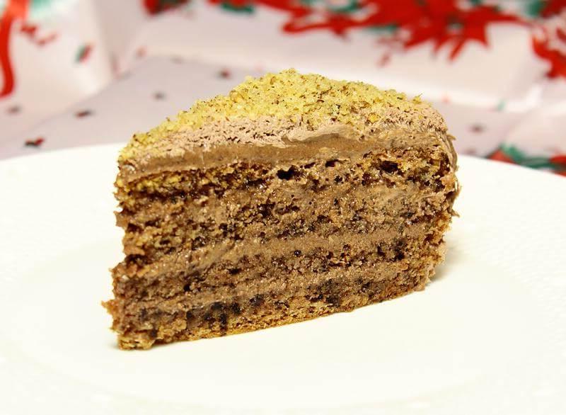 Для тех, кто любит пропитанные торты. Рецепт десерта с орешками из моей старой тетрадки