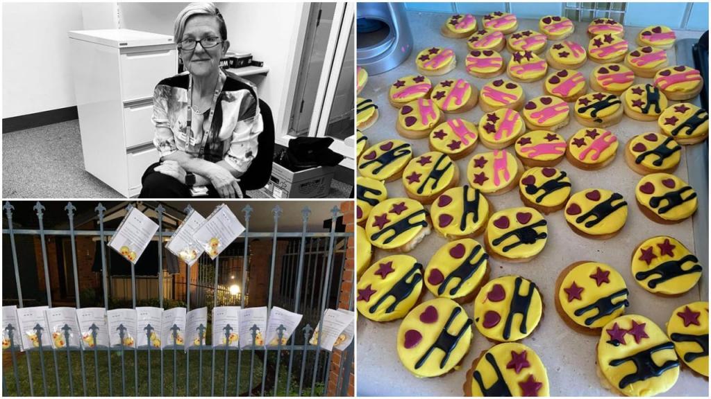 Чтобы скоротать время в изоляции, австралийка печет печенье и раздает его соседским детям