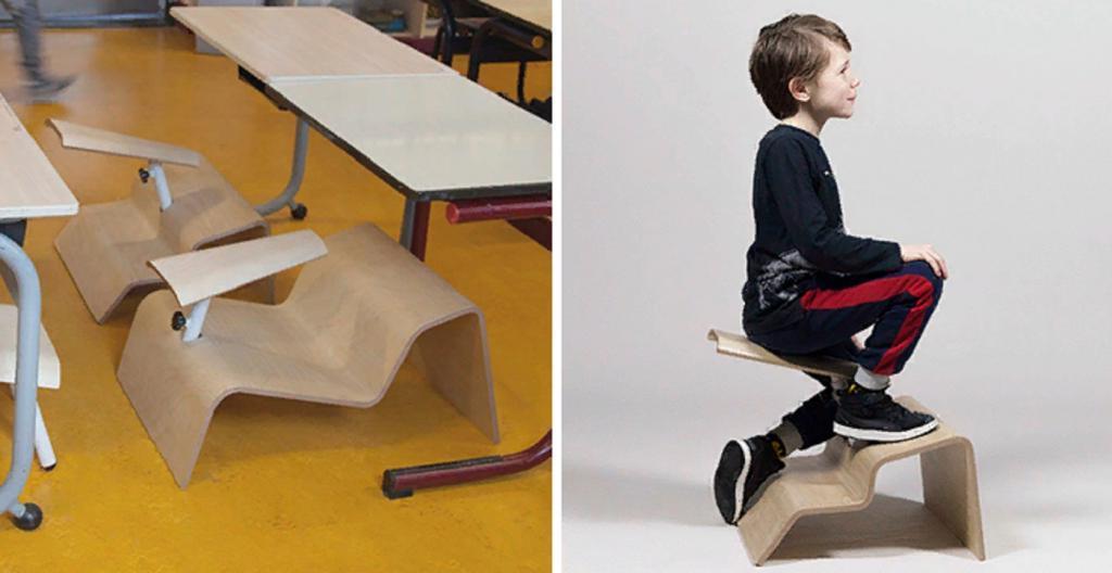 Голландский дизайнер создает школьные стулья для здоровой осанки: мебель производит неоднозначное впечатление