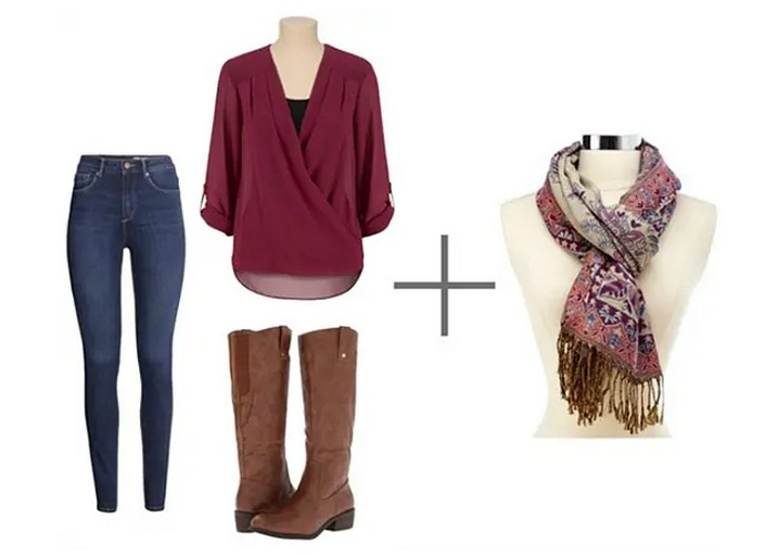 Модные варианты ношения шарфа осенью-2020
