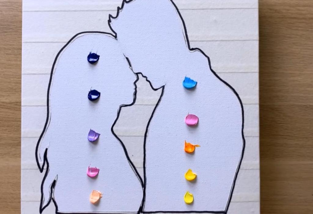 Подготовила мужу трогательный подарок ко дню рождения: мы женаты несколько лет, но картина продолжает напоминать о нашей крепкой любви