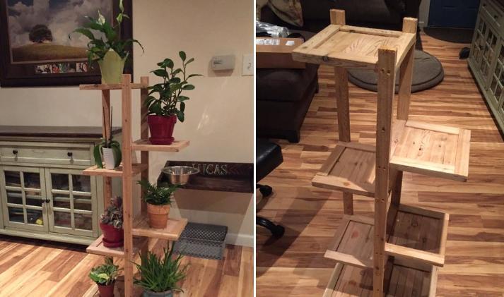 Сделано с любовью: талантливые отцы смастерили мебель для дома, от подставки для цветов до стеллажа для обуви (фото)