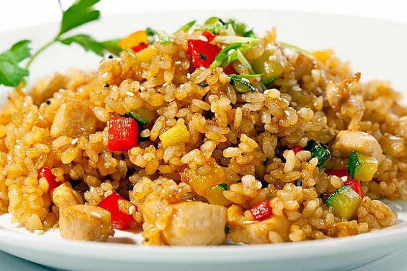 Совершенно новый вкус. Научилась делать китайский рисовый салат: куриная грудка, грибы, морковь