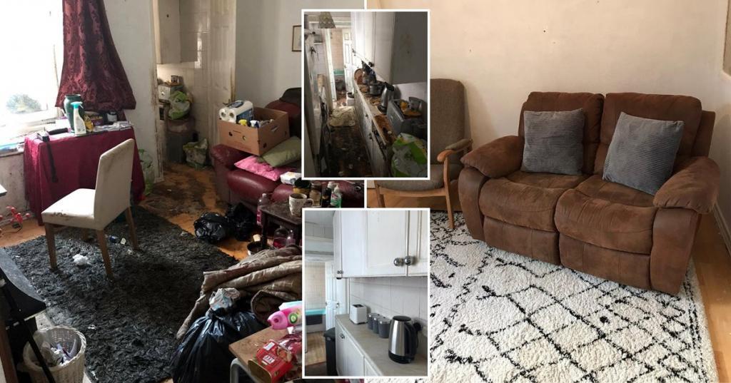 Дедушка не справлялся с уборкой в доме, и друзья вызвали профессиональных уборщиков. Через 50 часов дом было не узнать (фото до и после)