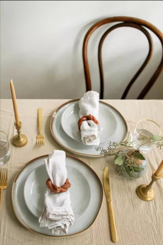 Такие простые и стильные терракотовые кольца для салфеток: сделала их сама из глины
