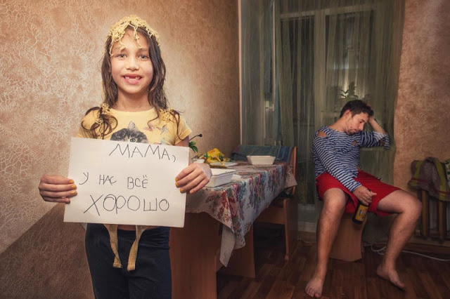 «Мама, у нас все хорошо»: папа и дочь сделали фотоотчет для мамы в командировке