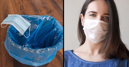 Почему маски одноразового использования нельзя выкидывать в мусорник