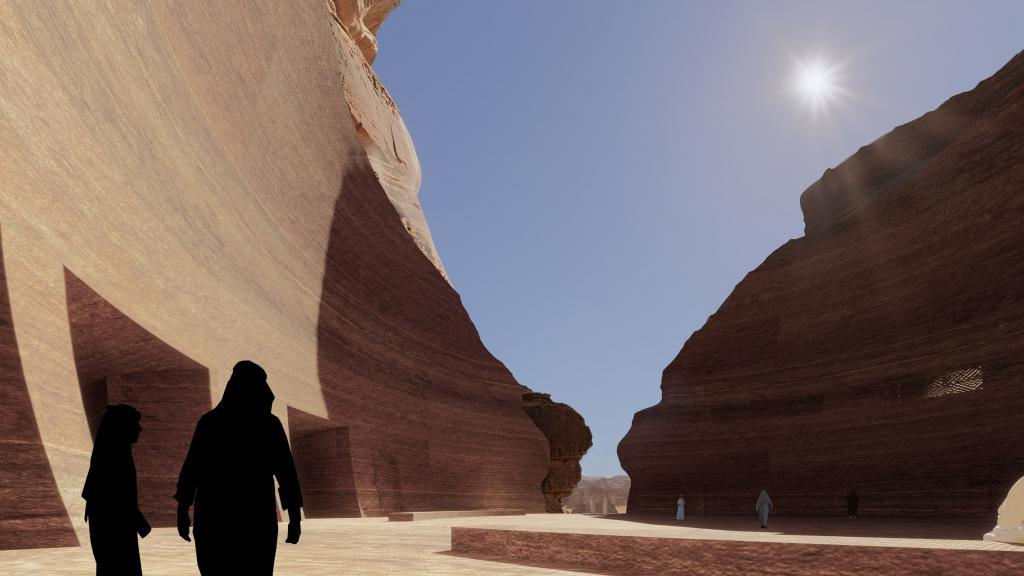 Французский архитектор представил проект подземного пещерного отеля в Саудовской Аравии