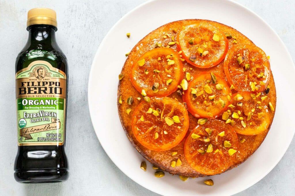 Вкуснейший пирог с украшением из апельсинов. Секрет в оливковом масле