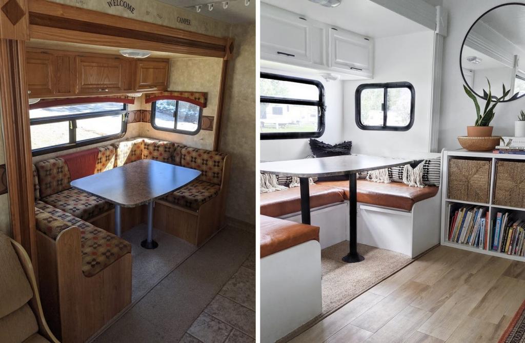 Семья из 5 человек превратила старый фургон в современное пространство. Фото до и после