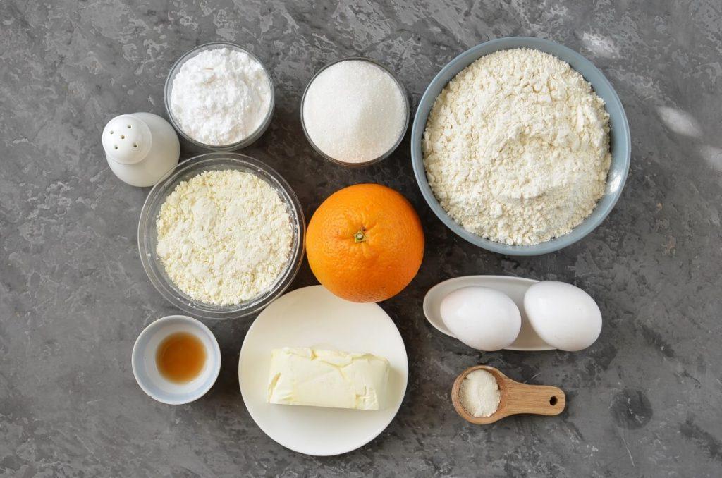 Апельсиновое печенье с нежной рикоттой. Легкий десерт для осеннего чаепития