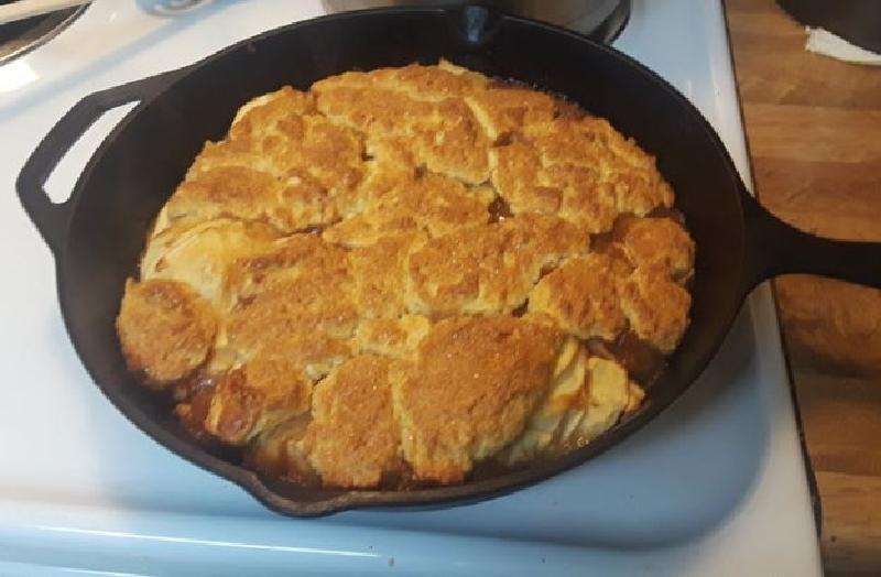 Яблочный коблер   пирог, который я готовлю ко всем семейным посиделкам