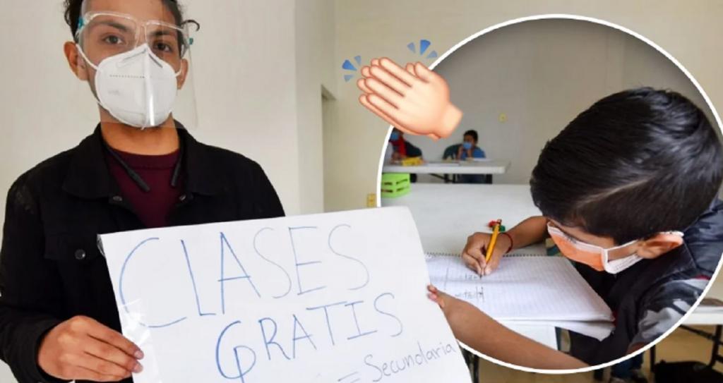 Математика, физика, география: парень из Мехико проводит бесплатные занятия с детьми, не имеющими доступа в Интернет
