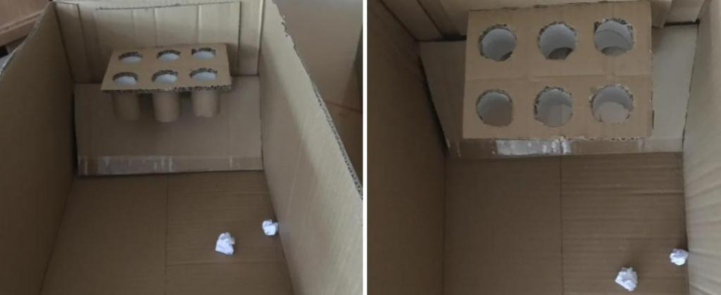 Как сделать баскетбольную корзину для веселых игр дома из картона и втулок от туалетной бумаги