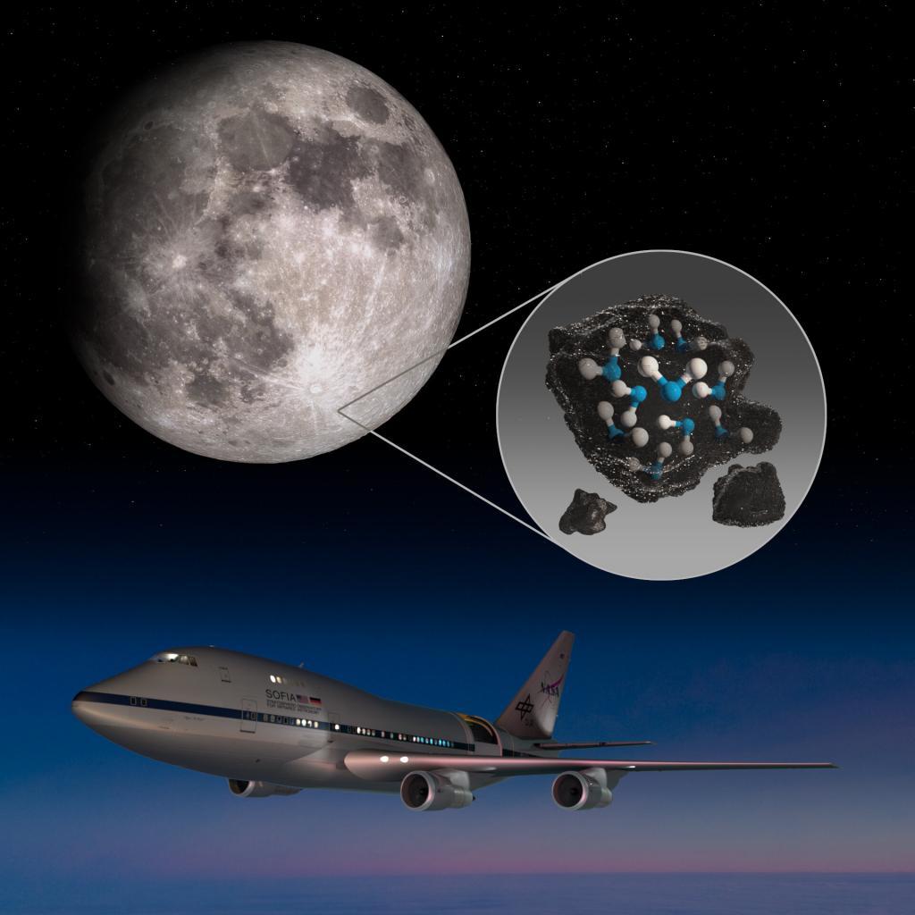 Открытие, сделанное NASA: вода есть и на солнечной стороне Луны