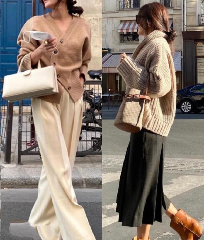 Базовый цвет + базовая модель: фэшн блогеры показывают, как носить это сочетание осенью