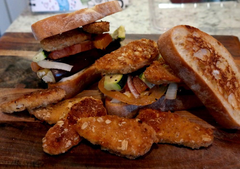 Сытный сэндвич с баклажаном и кабачком: отличный вариант быстрого ужина