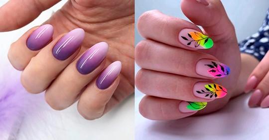 Дизайн ногтей в виде аккуратного рисунка на прозрачной базе уместен и на работе, и на отдыхе