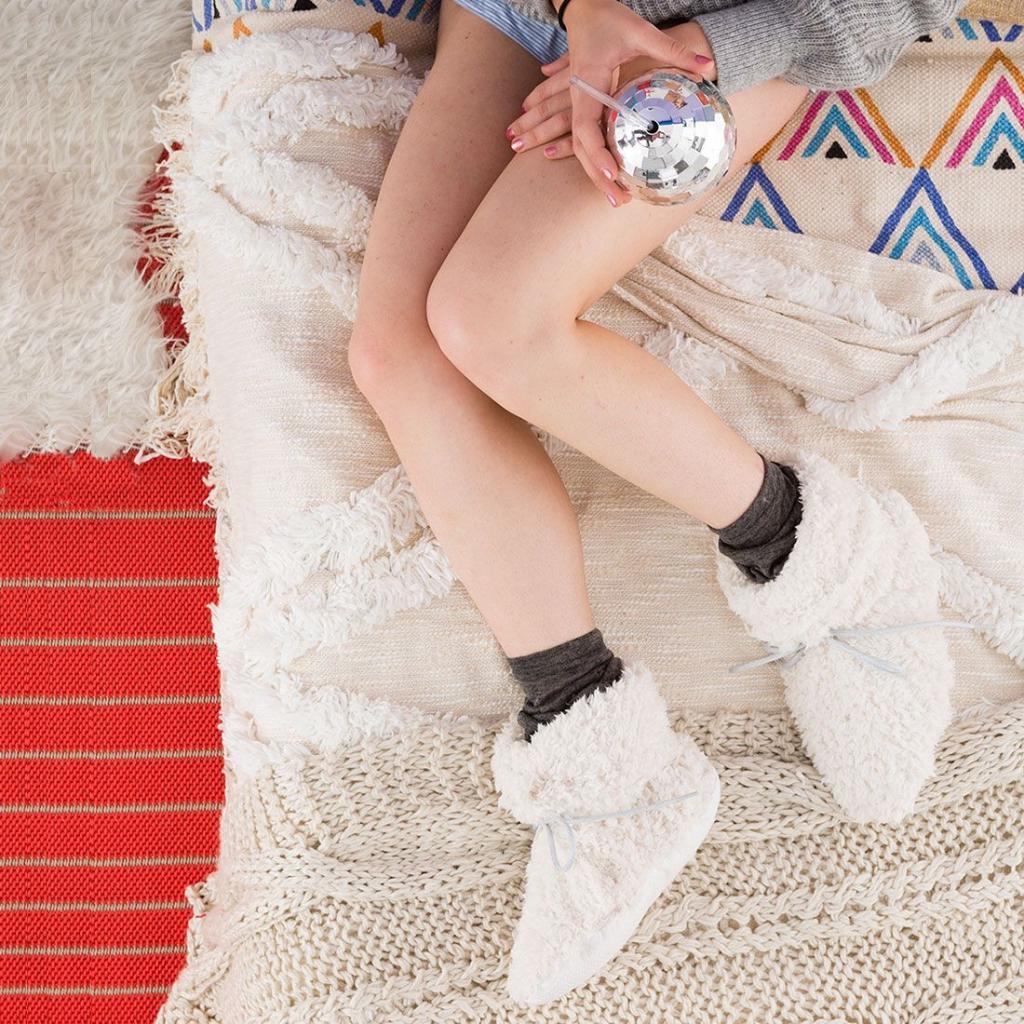 Делаем уютные тапочки-носочки: я плохо шью, но получилось очень аккуратно