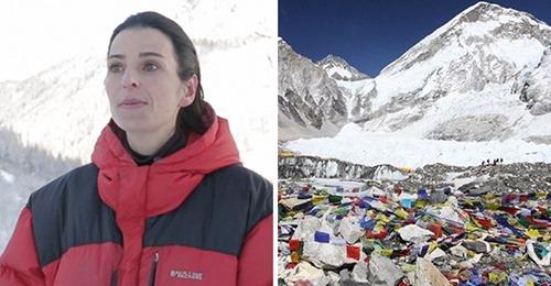 Альпинистка-альтруистка и сотоварищи прибрались на самой высокой вершине мира