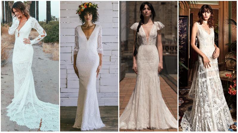 Богемные свадебные платья для капризных невест: современный наряд для нетрадиционного торжества
