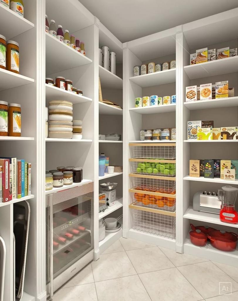 Используйте пространство стены и храните некоторые вещи вертикально. Как организовать кладовую