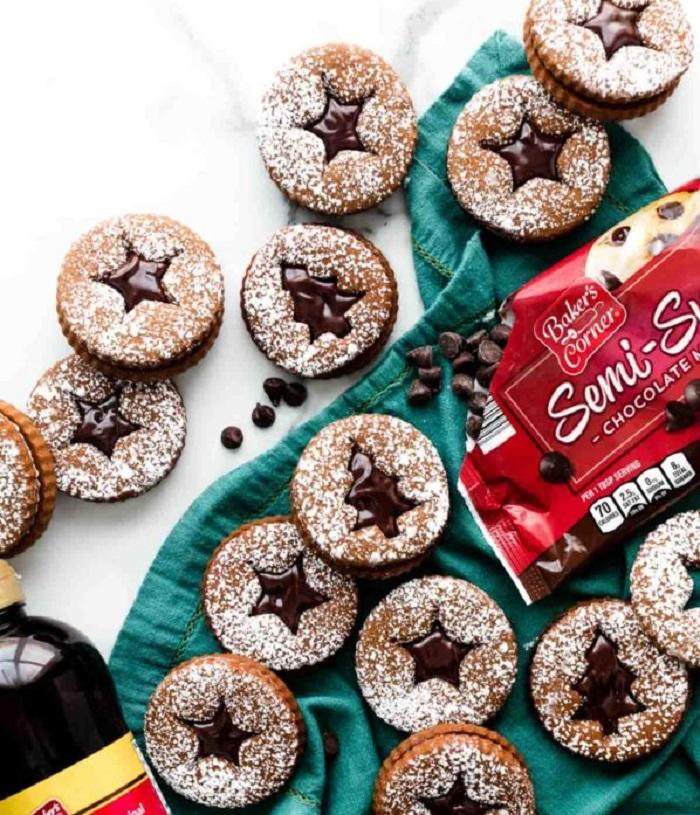 Очень вкусное печенье с шоколадной начинкой: всегда пеку на новогодние праздники