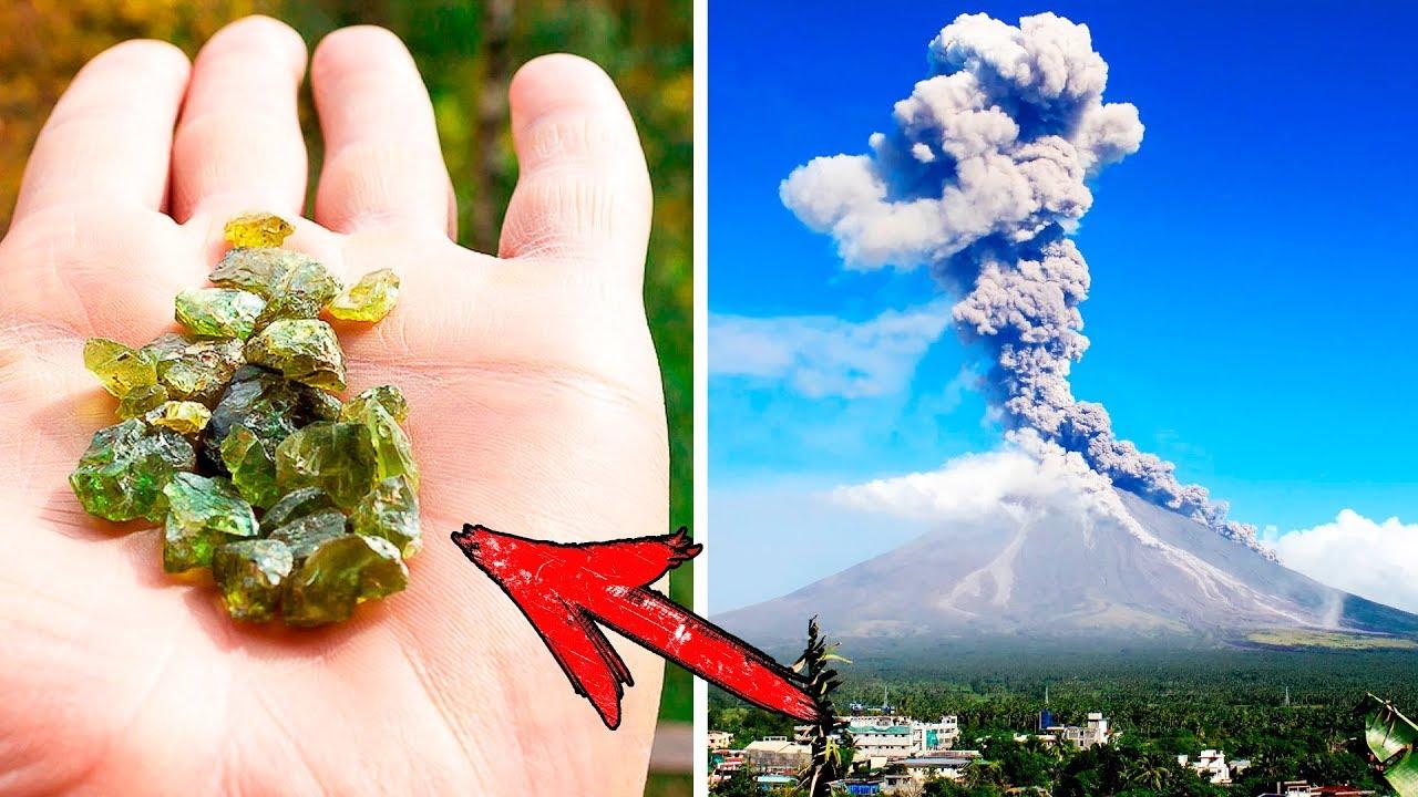 На Гавайях Во Время Извержения Вулкана Драгоценные Камни Буквально Начали Падать На Людей С Неба