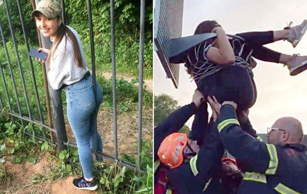 25 невезучих девушек, которых угораздило застрять в странных местах самым нелепым образом