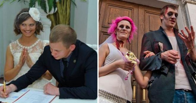 Свадебные приколы из ЗАГСа: 20 фото, которые поднимут настроение на ура