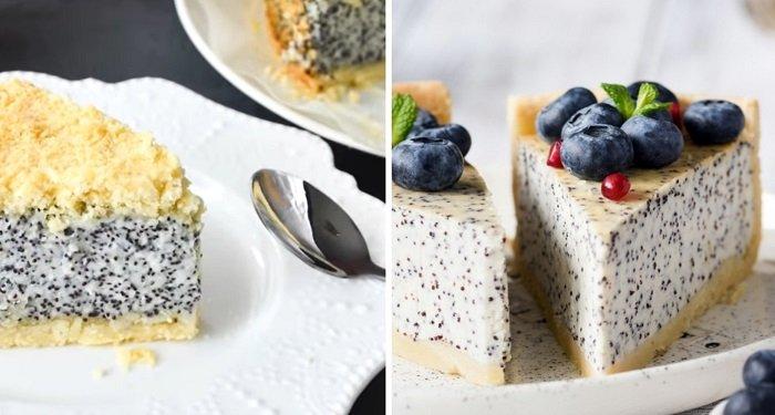 Вкусный немецкий маковый пирог с творогом