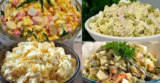 4 потрясающих салата, которые украсят как повседневное, так и праздничное меню