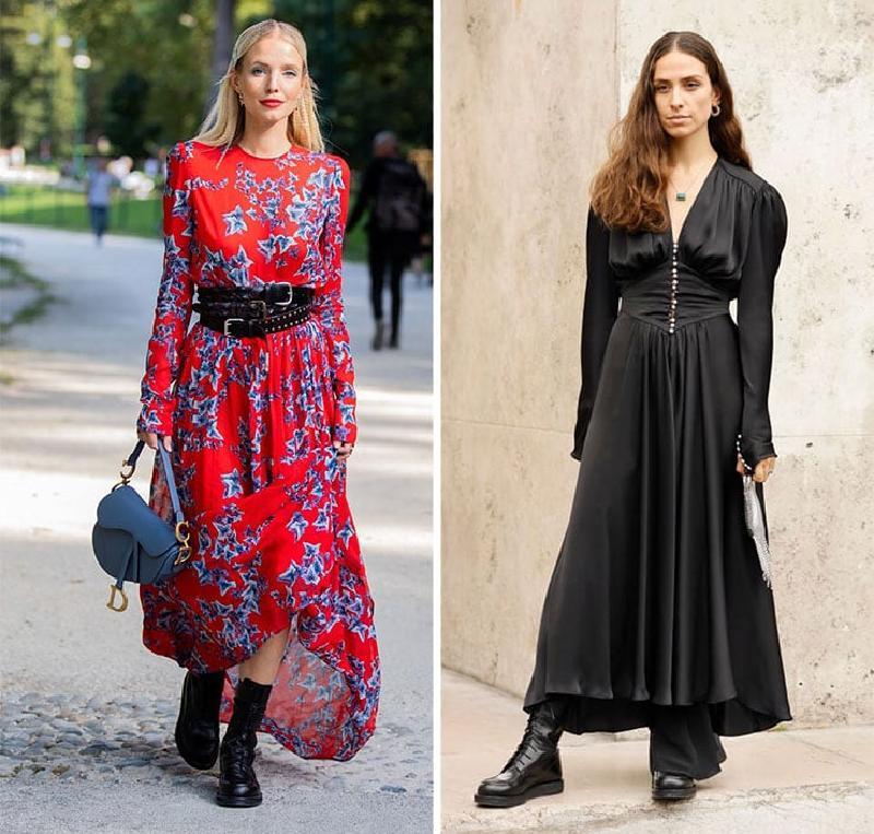 С чем носить массивные ботинки, чтобы оставаться женственной: идеи стильных образов на каждый день