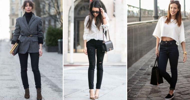 Удобные, универсальные и подчеркивают фигуру: модные модели черных джинсов, которые подходят под эти критерии