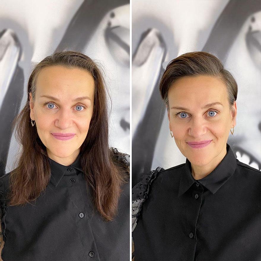 Парикмахер из Москвы преображает женщин с помощью коротких стрижек: фото