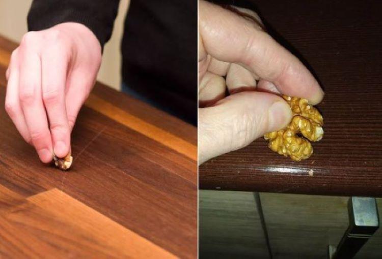 С царапинами на мебели справляюсь легко: лайфхаки с грецким орехом и утюгом