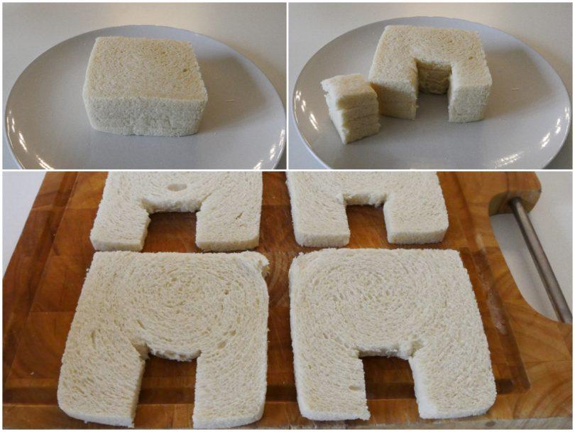 Недорогая эффектная закуска за 10 минут: новогодний домик из бутербродов